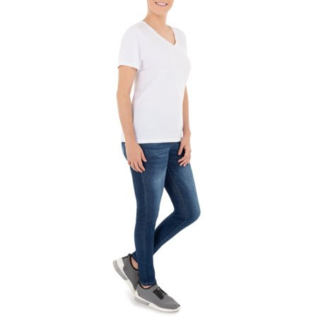 Women's Essential V-Neck T-Shirt, 2 Pack Bundle