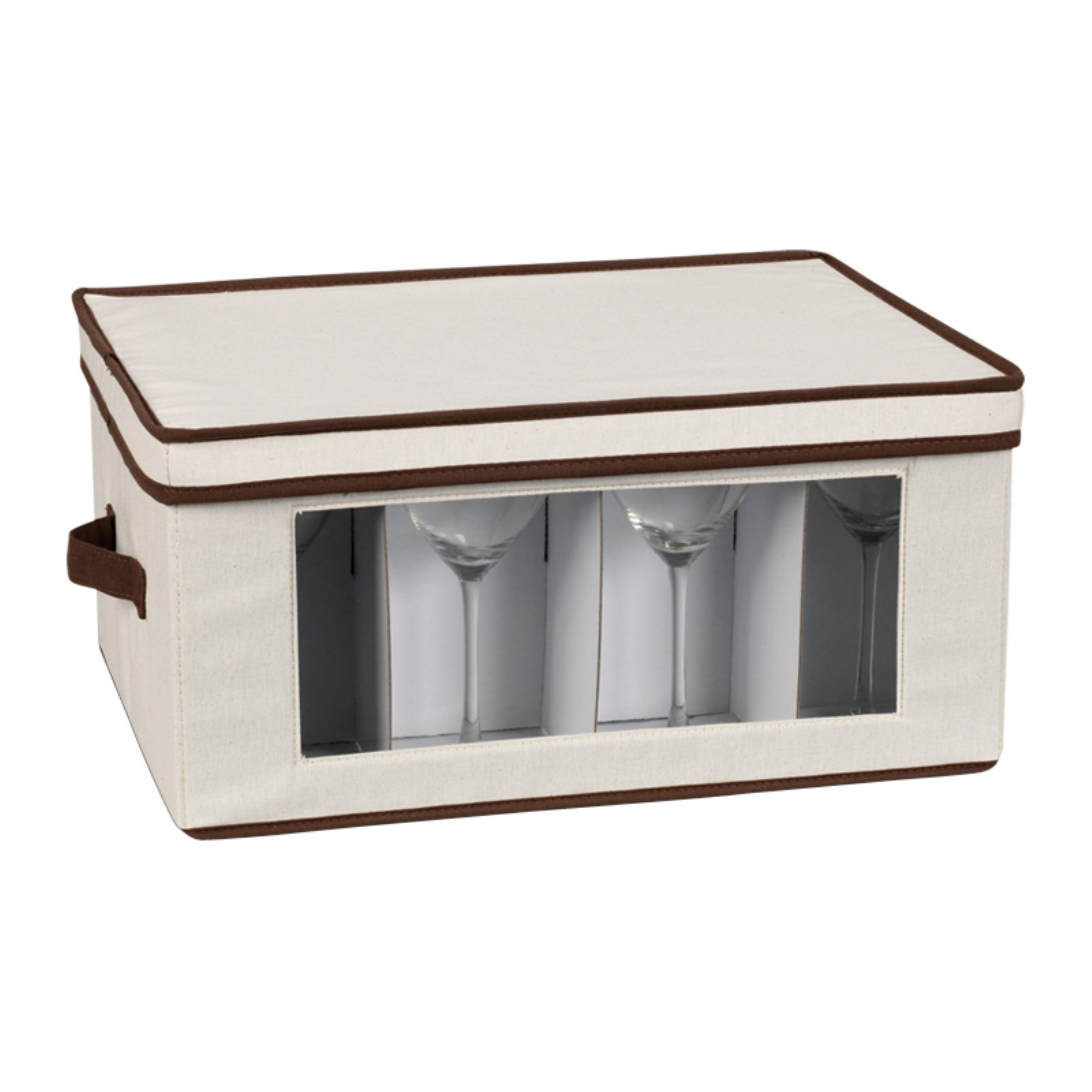 Household Essentials Window Vision Stemware Goblet Chest