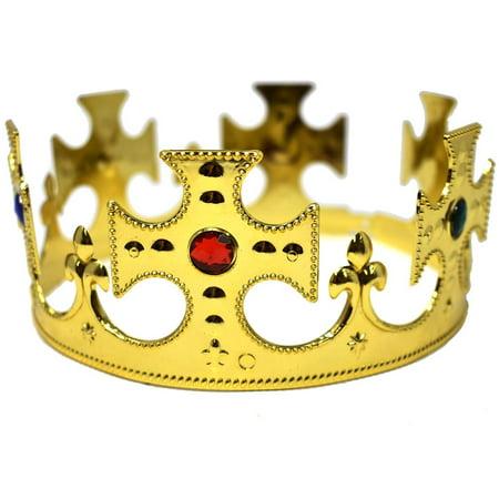 Medieval Kings' Crown, Gold, 8-1/4-Inch Adjustable Diameter