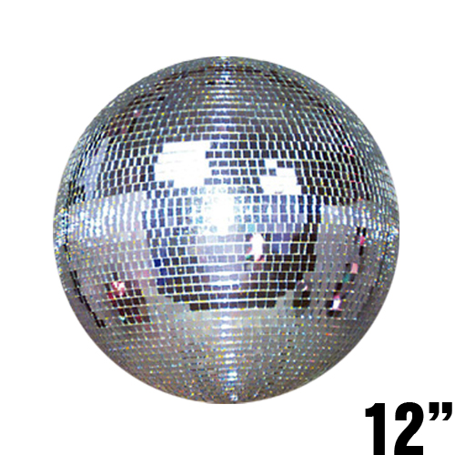 "Disco Ball 12"" Disco Mirror Ball Adkins Professional Lighting by Adkins Pro Audio & Lighting"
