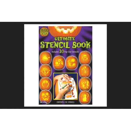 Easy Pumpkin Stencils (Pumpkin Pro Ultimate Stencil Book Pumpkin Accessory 10-3/4 in. H x 5-1/4 in. W 1 pk - Case Of: 24; Each Pack Qty:)