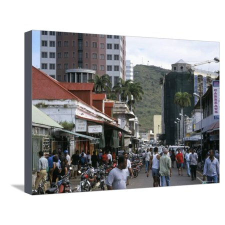 - Street Scene, Farquhar Street, Port Louis, Mauritius, Indian Ocean, Africa Stretched Canvas Print Wall Art By David Poole
