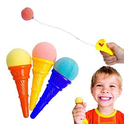 toy cubby colorful plastic mini ice cream cone shooter - 12 pieces - Cubby Bear Halloween Party