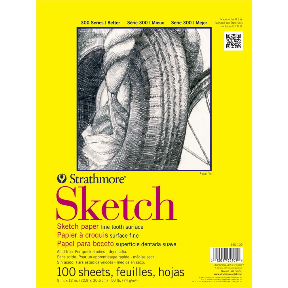"Strathmore 300 Series 14"" x 17"" Glue Bound Sketch Pad"