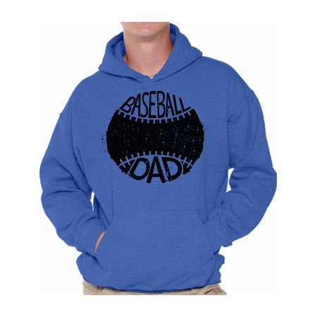 Baseball Homecoming Ideas (Awkward Styles Men's Baseball Dad Sport Lover`s Graphic Hoodie Tops Black Father's Day Gift)