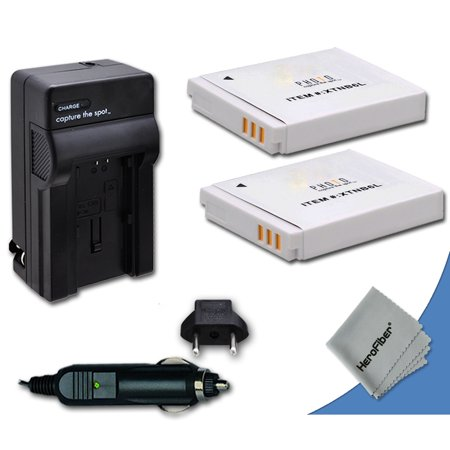 2 Canon NB-6L / NB-6LH Batteries Replacement by Xit with AC/DC Quick Charger Kit for Canon PowerShot SX500 IS Digital