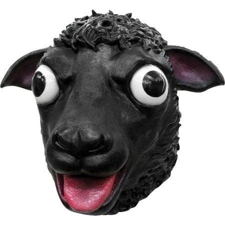 Happy Halloween Sheep (Black Sheep Latex Mask Adult Halloween)