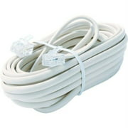 15FT 6-WIRE TELE LINE CORD WHT PREMIUM RETAIL BLISTER PACK