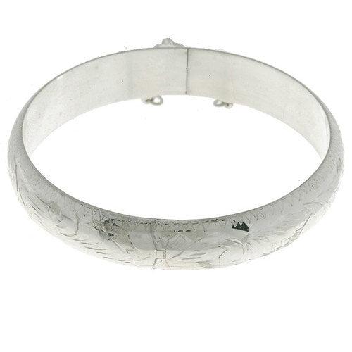 Sterling Essentials Sterling Silver Engraved Bangle Bracelet