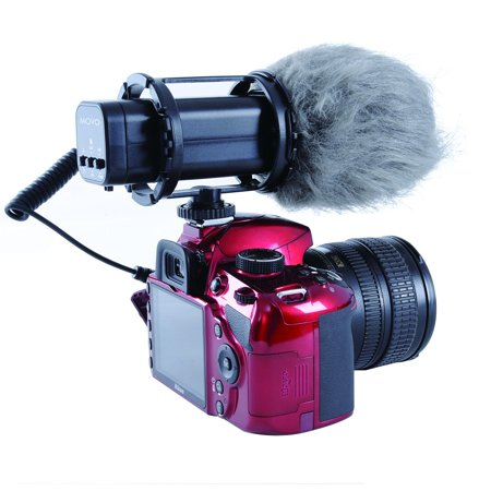 Movo VXR300 HD Professional Condenser X/Y Stereo Video Microphone for DSLR Video (Video Camera Mic)