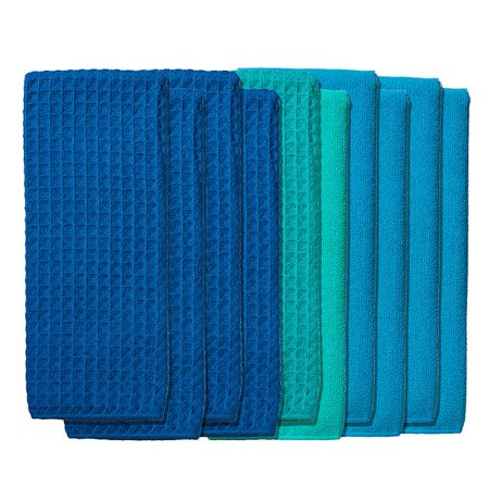 Town and Country Living Microfiber Kitchen Towels 10-pack - Blue