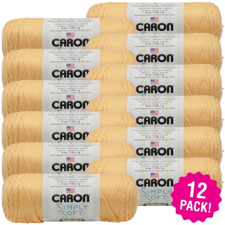(Caron Simply Soft Heather Yarn - Woodland, Multipack of 12)