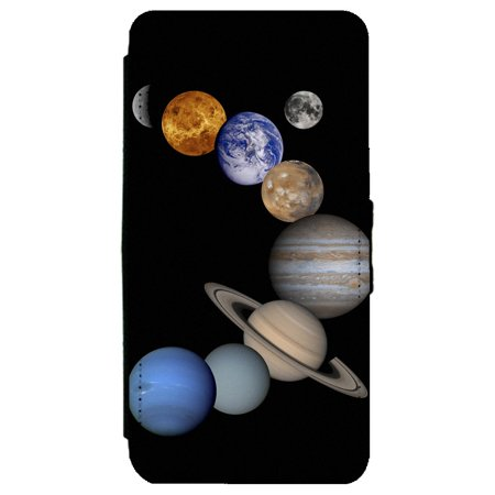 Solar System Milky Way Galaxy Samsung Galaxy S8 Leather Flip Phone Case