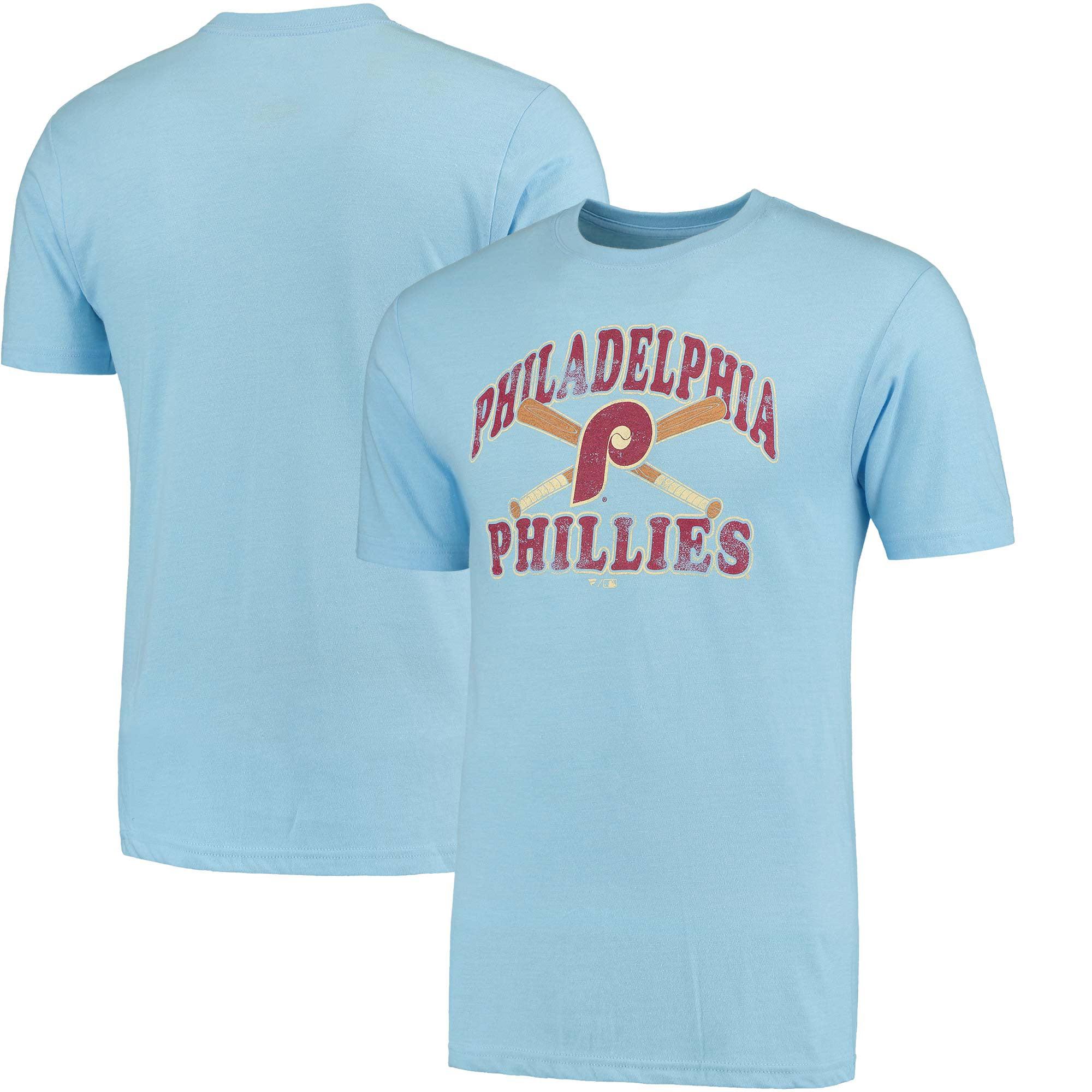 Philadelphia Phillies Cooperstown Bats T-Shirt - Light Blue