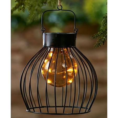 Solar Caged Fairy Light Lantern Dome Walmart Com