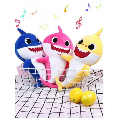 - Maraso Baby Shark Plush Singing Plush Toys Music Doll English Song Christmas Gift