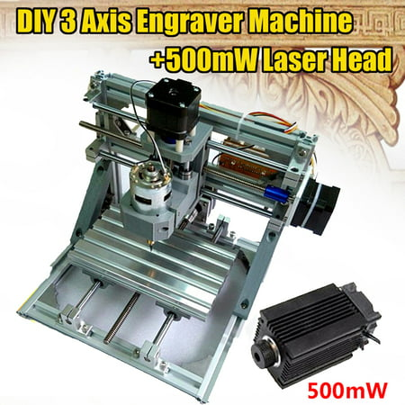CNC 3 Axis Engraver Machine Milling Wood Carving Engraving Machine DIY With 500mW laser head ()