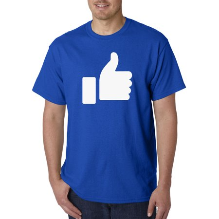 New Way 914 - Unisex T-Shirt Thumbs up You Like This Social Media 4XL Royal Blue (Thumbs Up Thumbs Down)