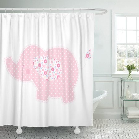 - PKNMT Patchwork Cute Elephant Nice for Baby Child Album Polyester Shower Curtain 60x72 inches