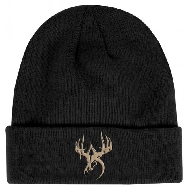 Fierce WG-BN-BLT Wildgame Innovations Black with Tan logo knit beanie