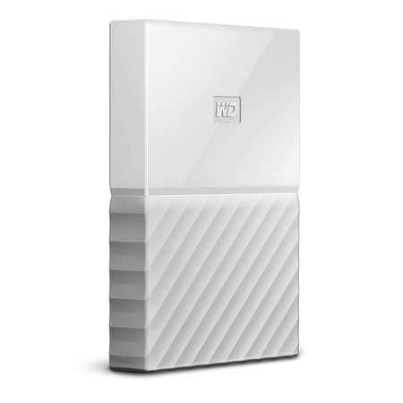 WD 1TB White My Passport Portable External Hard Drive - USB 3.0 - Model