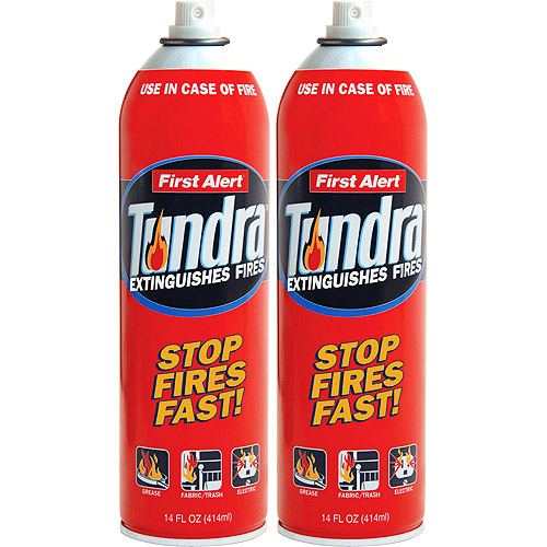 First Alert Tundra Fire Extinguisher Spray, Twin Pack