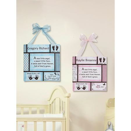 Personalized Baby Canvas - Personalized New Baby Art Canvas 11