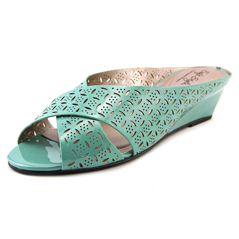 Soft Style by Hush Puppies Elida Women W Open Toe Synthetic Green Slides Sandal