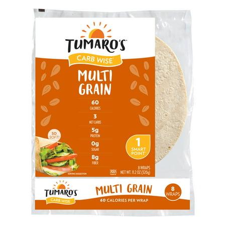 "Tumaro's 8"" Low Carb Multi Grain Tortillas - 11.2oz/8ct"