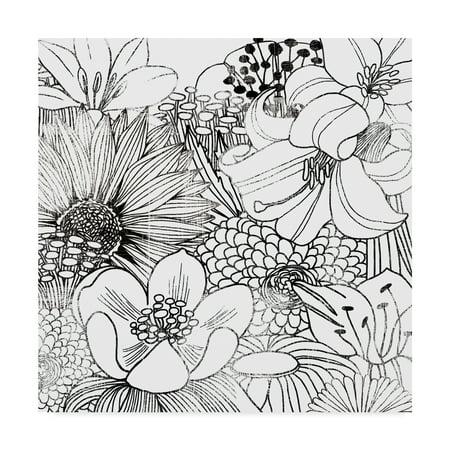- Trademark Fine Art 'Contemporary Garden II Black and White' Canvas Art by Michael Mullan