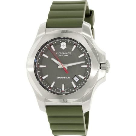Victorinox Swiss Army Men's I.N.O.X. 241683.1 Green Rubber Swiss Quartz Watch
