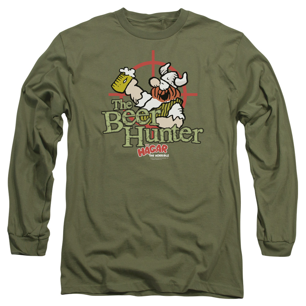 Hagar The Horrible Beer Hunter Mens Long Sleeve Shirt