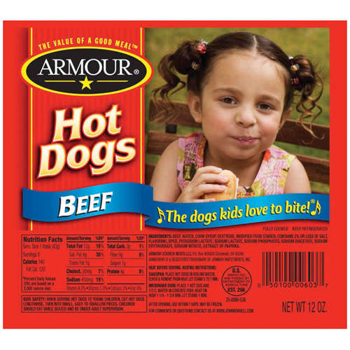 Armour: Beef 8 Ct Hot Dogs, 12 oz