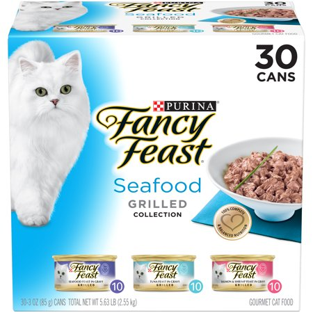 Fancy Feast Gravy Wet Cat Food Variety Pack, Seafood Grilled Collection - (30) 3 oz.