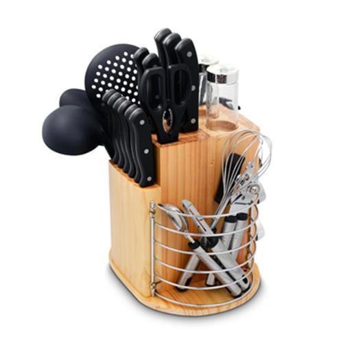 Ragalta USA PLCKS-200B Carousel Knife & Kitchen Tool Set, Black
