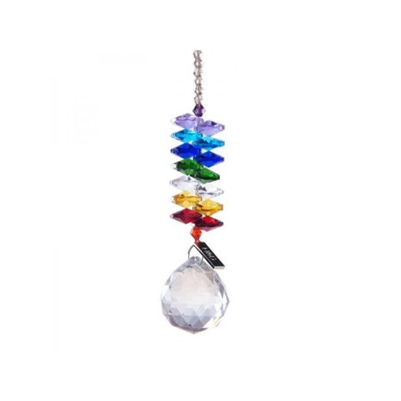 Cluxwal Dream Glass Faceted Crystal Ball Clear Hanging Prism Pendant Suncatcher Feng Shui Window Ceiling Lamp Lighting Hanging Drop Wedding