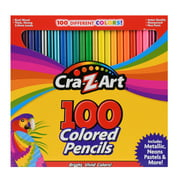 Cra-Z-Art Real Wood, Beginner to Advanced, Child & Adult Colored Pencils, 100 Count - 2 Pack