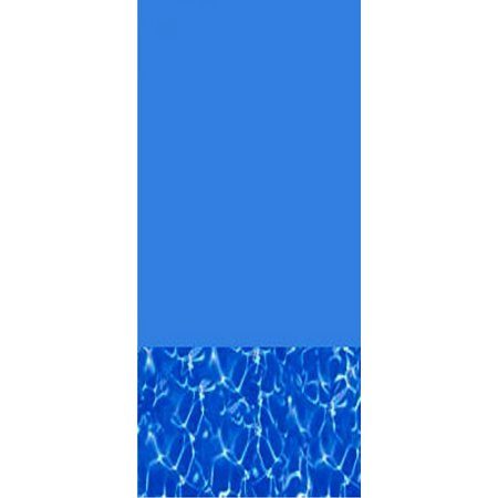 15-Foot Round Swirl Bottom Expandable Overlap Above Ground Swimming Pool Liner - 60-Inch Wall Height - 25 (Round Flat Bottom Overlap Liner)