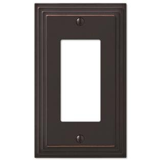 Step Design GFCI Decora Rocker Wall Switch Plate Outlet Cover - Oil Rubbed Bronze Decora Style Rocker Wall Switch