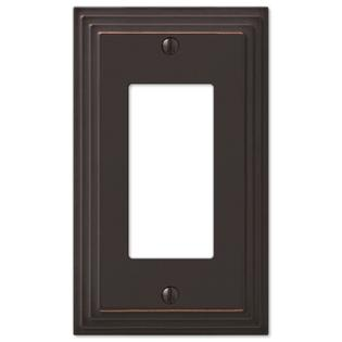 Product Image Step Design GFCI Decora Rocker Wall Switch Plate Outlet Cover    Oil Rubbed Bronze