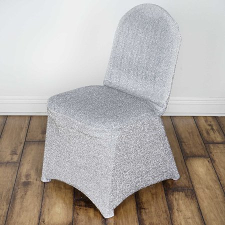 BalsaCircle Metallic Spandex Banquet Chair Cover Slipcover for Party Wedding Reception Decorations