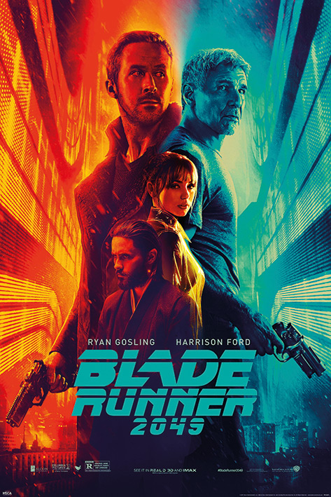 """Blade Runner 2049 Movie Poster   Print (Regular Style Fire & Ice) (Size: 24"""" x 36"""") by"""