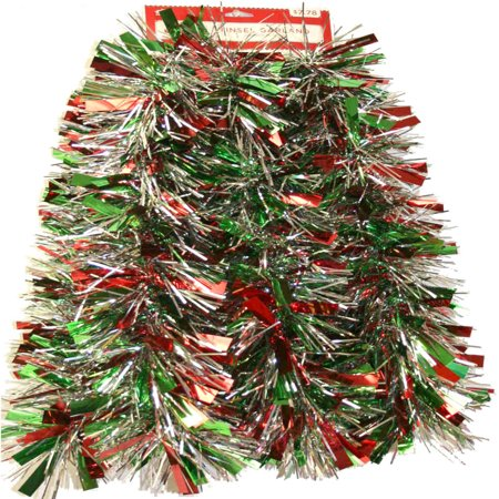 9 red green and silver mega christmas garland - Green Christmas Garland