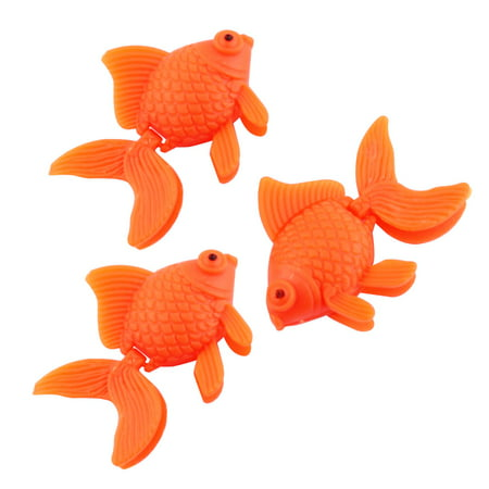 3 PCS Aquarium Fish Tank Orange Plastic Floating Goldfish