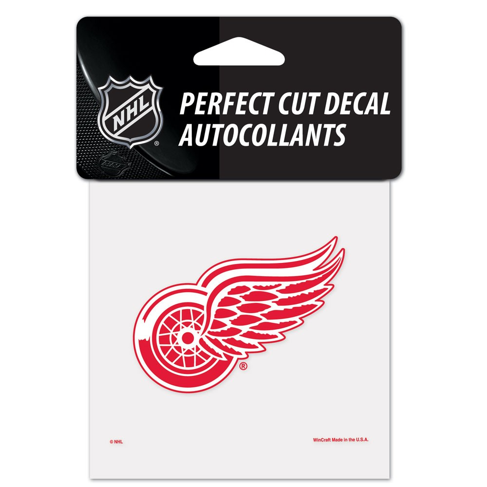 Detroit Red Wings Official NHL 4 inch x 4 inch  Die Cut Car Decal by Wincraft