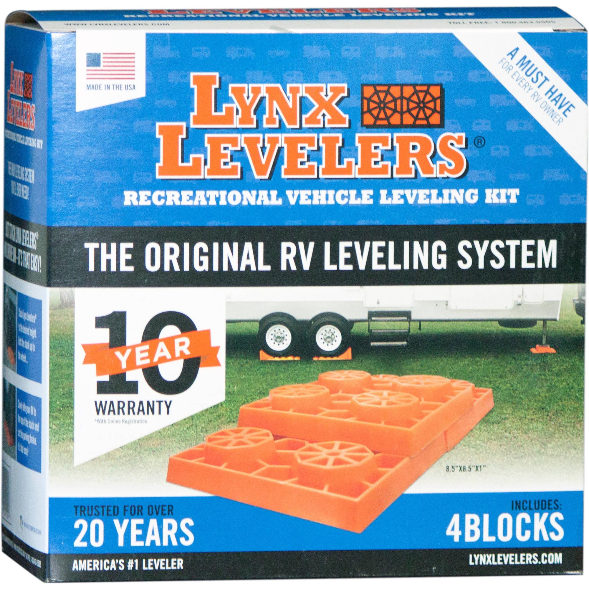 Lynx Levelers 4-Pack RV Leveling Blocks
