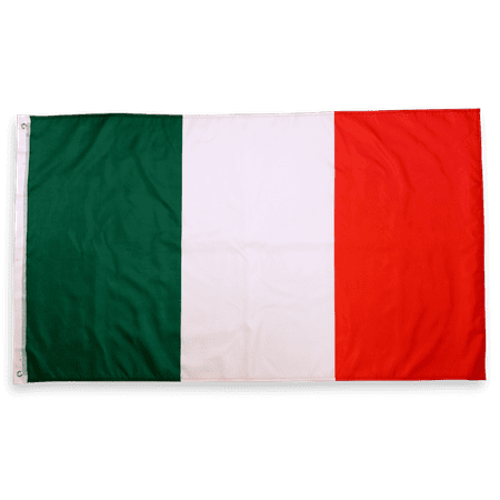 3x5 Foot Italy Flag Double Stitched Italian Flag with Brass Grommets | 3 by 5 Foot Premium Indoor Outdoor Polyester Banner (Italian Flag Outline)
