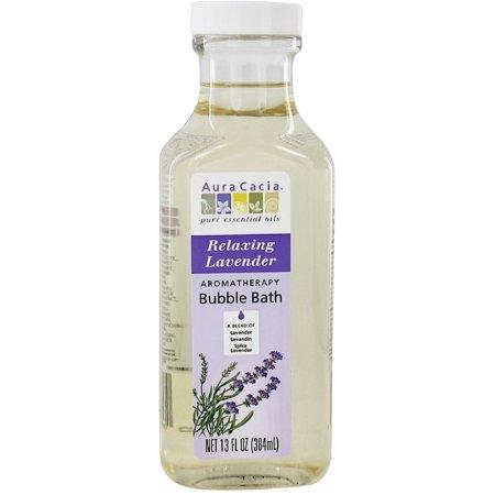 Aura Cacia Aromatherapy Bubble Bath, Relaxing Lavender 13 oz (Pack of 4) (Relaxing Lavender Foam Bath)