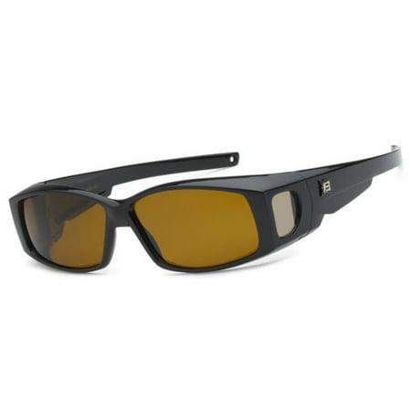Polarized Sunglasses cover put wear over Prescription Glasses fit driving SZ (Prescription Polarised Sunglasses)