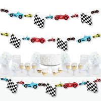 Let's Go Racing - Racecar - Race Car Birthday Party or Baby Shower DIY Decorations - Clothespin Garland Banner - 44 Pieces